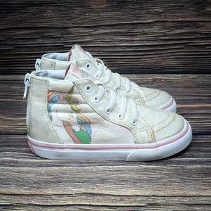 Vans Sk8-Hi Zip Unicorn Sneaker Girls RAINBOW sz 9